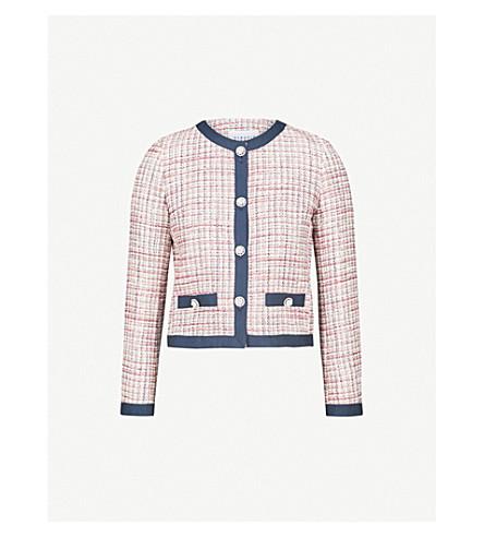 CLAUDIE PIERLOT Embellished cropped tweed jacket (Cream