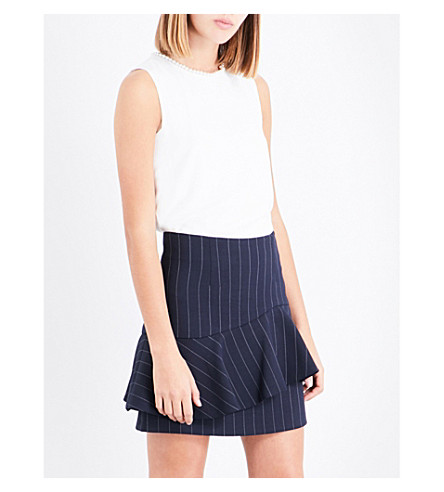 CLAUDIE PIERLOT Button-detail crepe top (Ecru