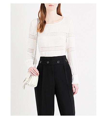 CLAUDIE PIERLOT Bise crepe blouse (Ecru
