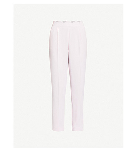 CLAUDIE PIERLOT 扇形修剪绉裤子 (白色
