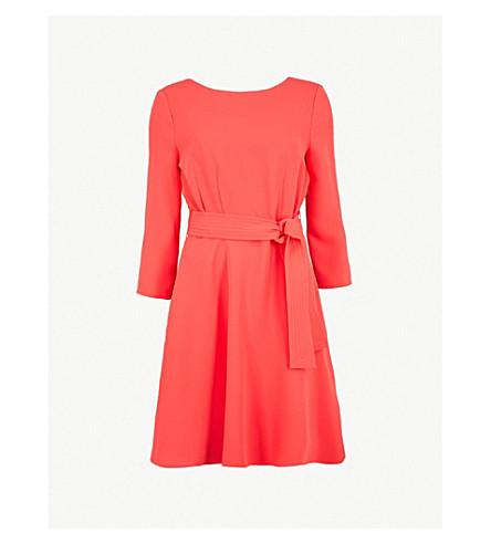 CLAUDIE PIERLOT Belted crepe dress (Coral