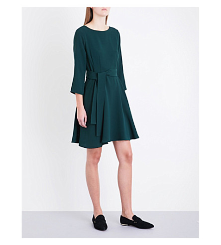 CLAUDIE PIERLOT Roselie crepe dress (Vert+sapin