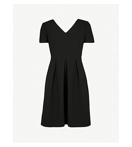 CLAUDIE PIERLOT 交叉背绉裙 (黑色