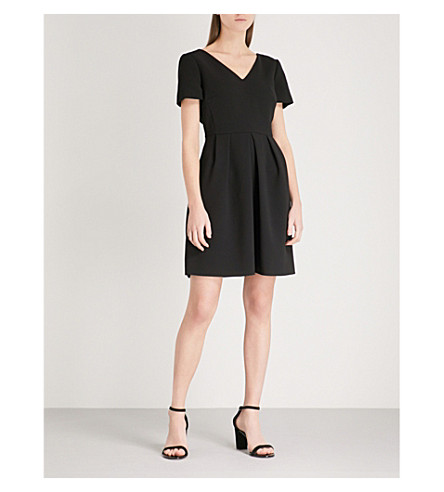 CLAUDIE PIERLOT Crossover-back crepe dress (Black