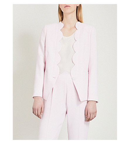 CLAUDIE PIERLOT Scalloped-trim crepe jacket (White