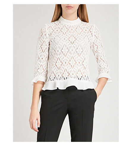 CLAUDIE PIERLOT Barcelone lace blouse (Cream