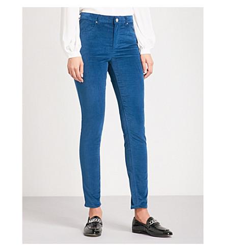 CLAUDIE PIERLOT Velvet skinny high-rise jeans (Canard