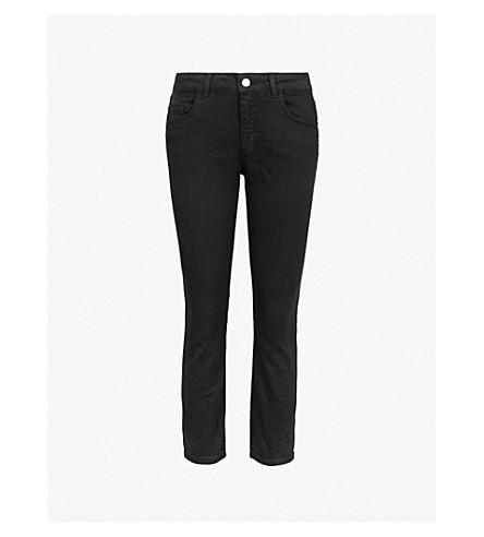CLAUDIE PIERLOT 修身版型紧身中腰牛仔裤 (黑色