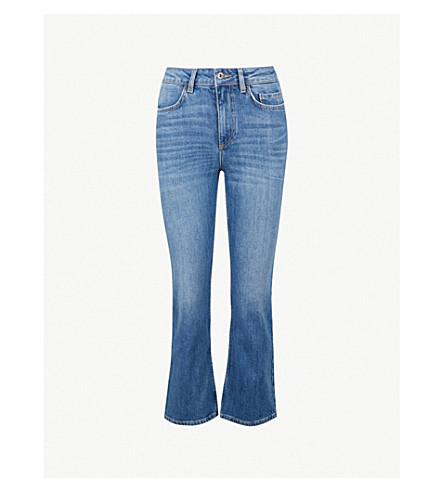CLAUDIE PIERLOT 喇叭高腰牛仔裤 (蓝色