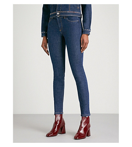 CLAUDIE PIERLOT Skinny mid-rise stretch-denim jeans (Blue