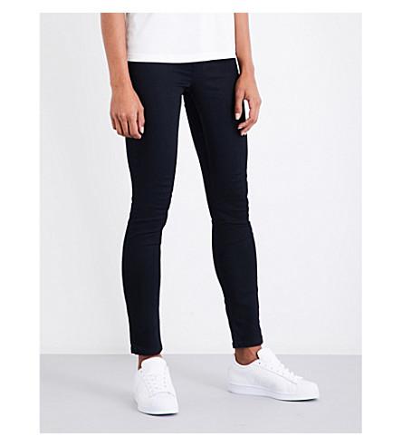 CLAUDIE PIERLOT Bead-embellished skinny high-rise jeans (Marine