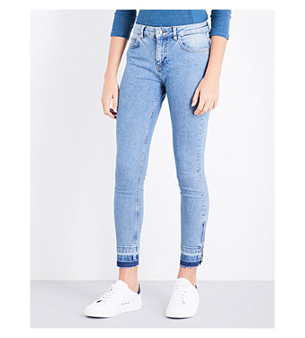 CLAUDIE PIERLOT Released-hem skinny mid-rise jeans (Jean