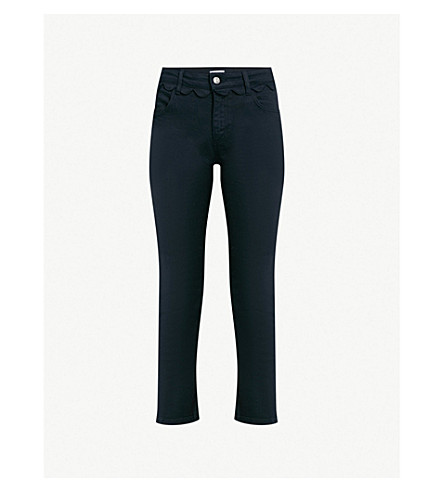 CLAUDIE PIERLOT Papaye high-rise straight jeans (Blue