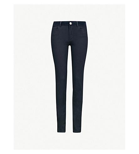CLAUDIE PIERLOT Velvet waistband skinny high-rise jeans (Navy