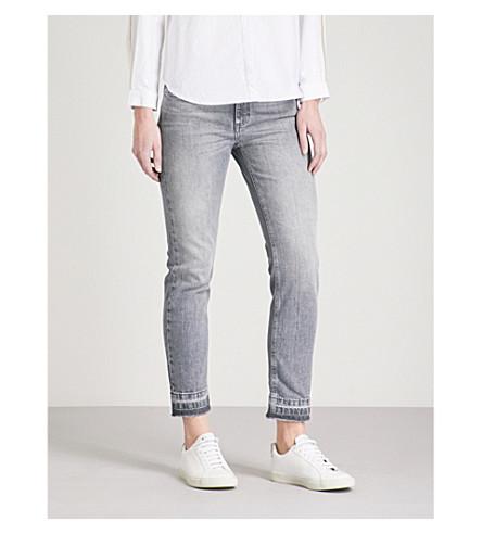 CLAUDIE PIERLOT Passiflore released-hem skinny mid-rise stretch-denim jeans (Grey