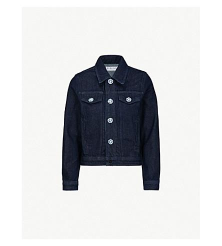 CLAUDIE PIERLOT Vera flower-button denim jacket (Jean