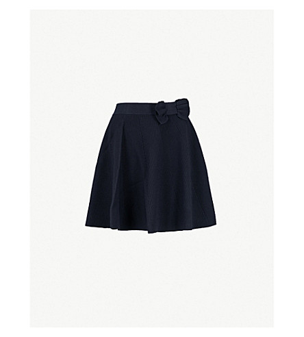 CLAUDIE PIERLOT 玛丽亚蝴蝶结细节绉裙子 (海军