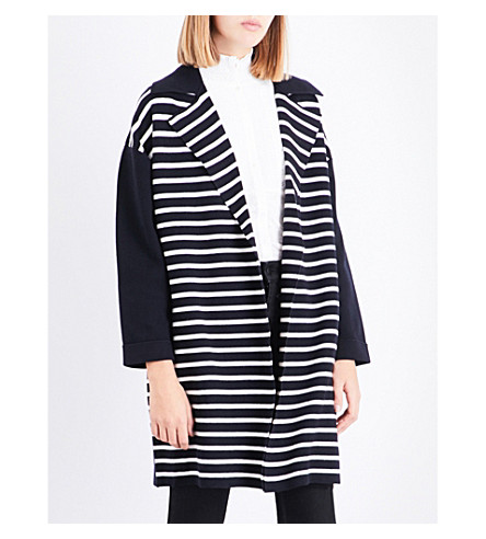 CLAUDIE PIERLOT Striped knitted cardigan (Marine