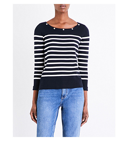 CLAUDIE PIERLOT Marin striped cotton jumper (Marine
