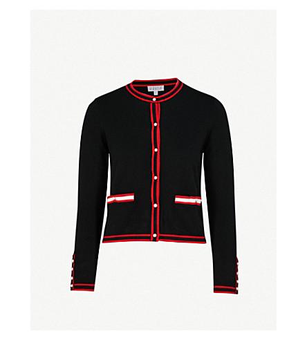 CLAUDIE PIERLOT Maxypunk 针织开襟衫 (黑色