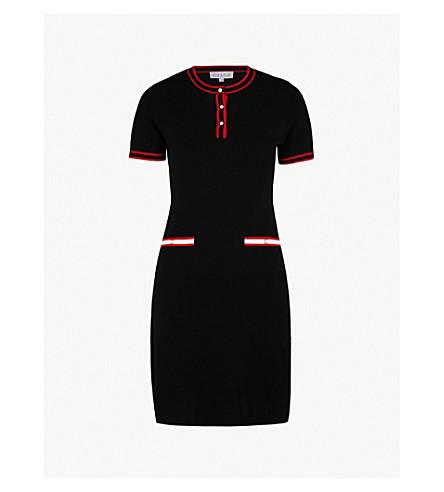 CLAUDIE PIERLOT Meona 羊毛混纺连衣裙 (黑色