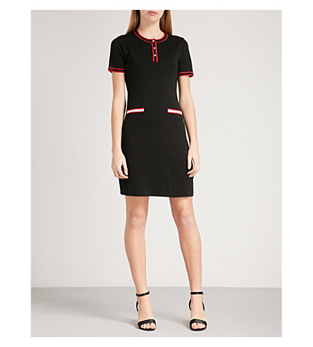 CLAUDIE PIERLOT Meona wool-blend dress (Black