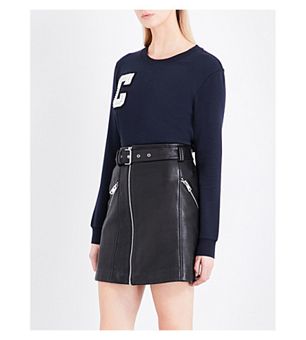 CLAUDIE PIERLOT C stretch-cotton sweatshirt (Marine