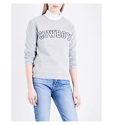 CLAUDIE PIERLOT Tahoe jersey sweatshirt (Gris+chine