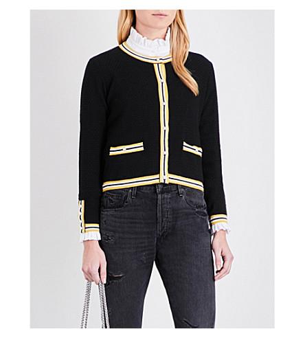 CLAUDIE PIERLOT Maxypunk knitted cardigan (Noir