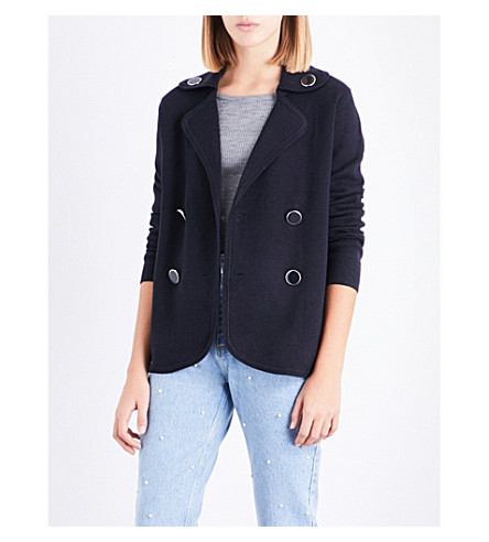 CLAUDIE PIERLOT Double-breasted knitted cardigan (Marine