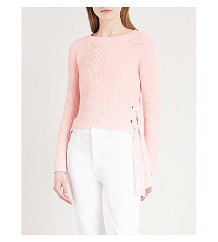 CLAUDIE PIERLOT Matelot tie-detail knitted jumper (Pink