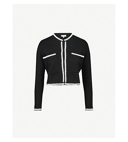 CLAUDIE PIERLOT Mandrine embellished knitted cardigan (Black