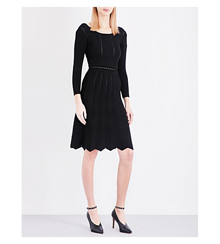 CLAUDIE PIERLOT Mary open-knit dress (Noir