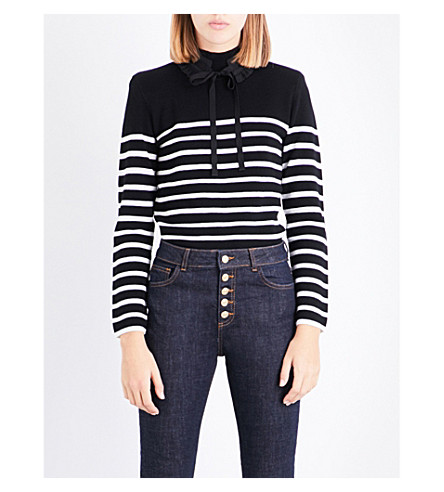 CLAUDIE PIERLOT Striped wool jumper (Noir