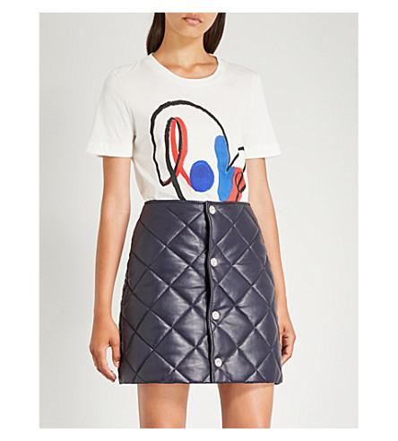CLAUDIE PIERLOT Love-print cotton-jersey T-shirt (Ecru