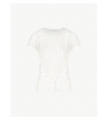 CLAUDIE PIERLOT Taime lace t-shirt (Ecru