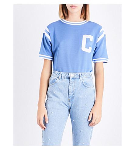 CLAUDIE PIERLOT Varsity jersey T-shirt (Ardoise