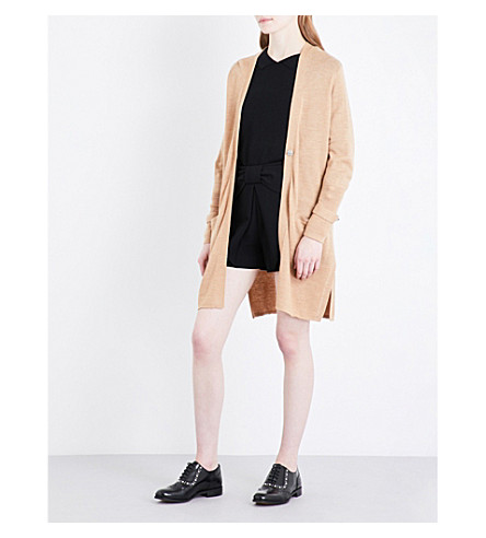 CLAUDIE PIERLOT Oversized wool cardigan (Camel