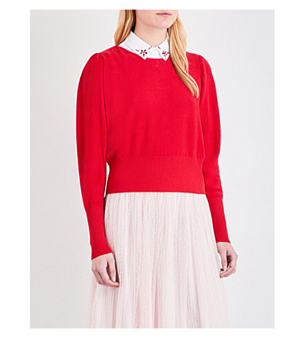 CLAUDIE PIERLOT Mathys knitted sweater (Ruby