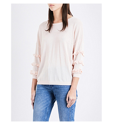 CLAUDIE PIERLOT Moon knitted jumper (Poudre
