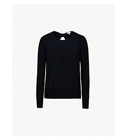 CLAUDIE PIERLOT Fine-knit wool jumper (Noir