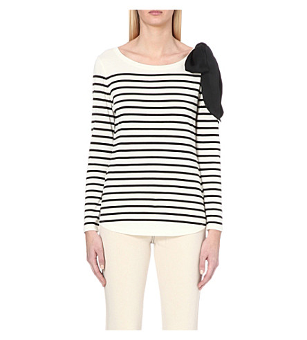CLAUDIE PIERLOT Trocadero cotton-blend top (Ecru