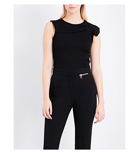 CLAUDIE PIERLOT Bow knitted top (Noir