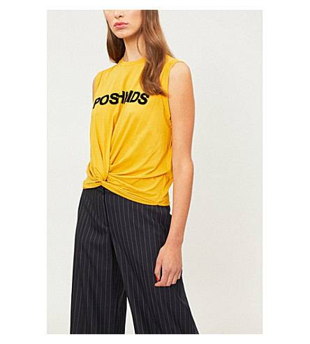 CLAUDIE PIERLOT Poshkids cotton-jersey top (Yellow