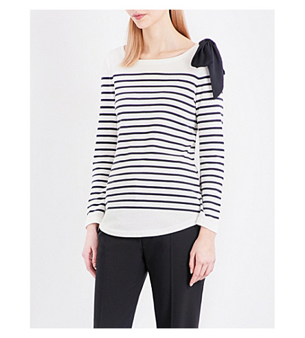 CLAUDIE PIERLOT Trocadero striped jersey top (Marine