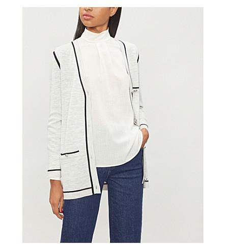 CLAUDIE PIERLOT Maxi-long wool-blend cardigan