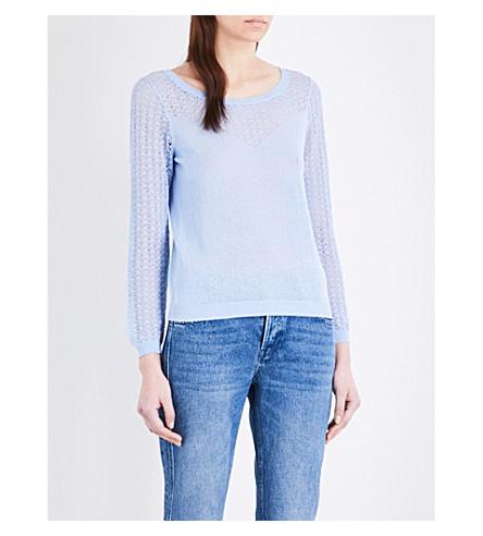 CLAUDIE PIERLOT Mir linen-blend jumper (Azur