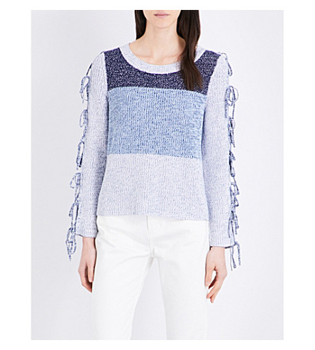 CLAUDIE PIERLOT Modigliani knitted cotton-blend jumper (Jean