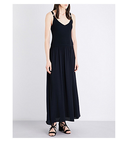 CLAUDIE PIERLOT Milan crepe dress (Marine
