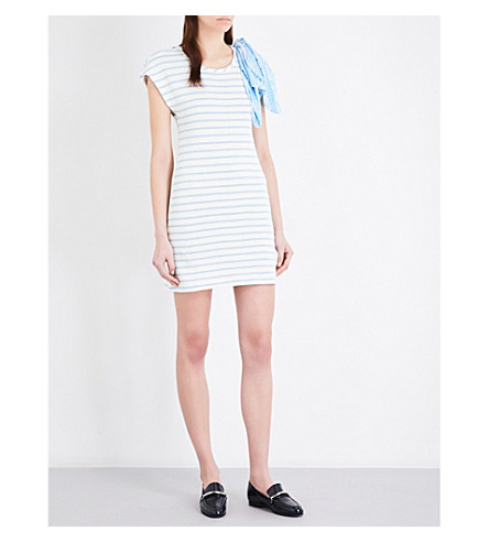 CLAUDIE PIERLOT Timber striped jersey dress (Ecru